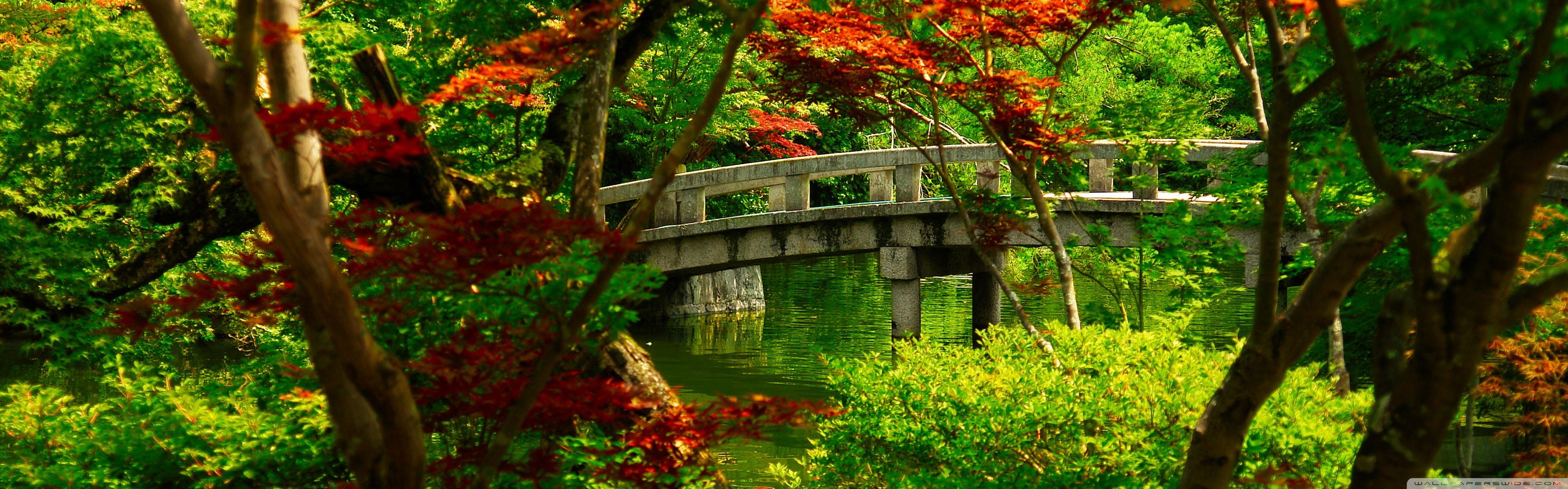 Japanese Garden Kyoto HD Desktop Wallpaper Widescreen High