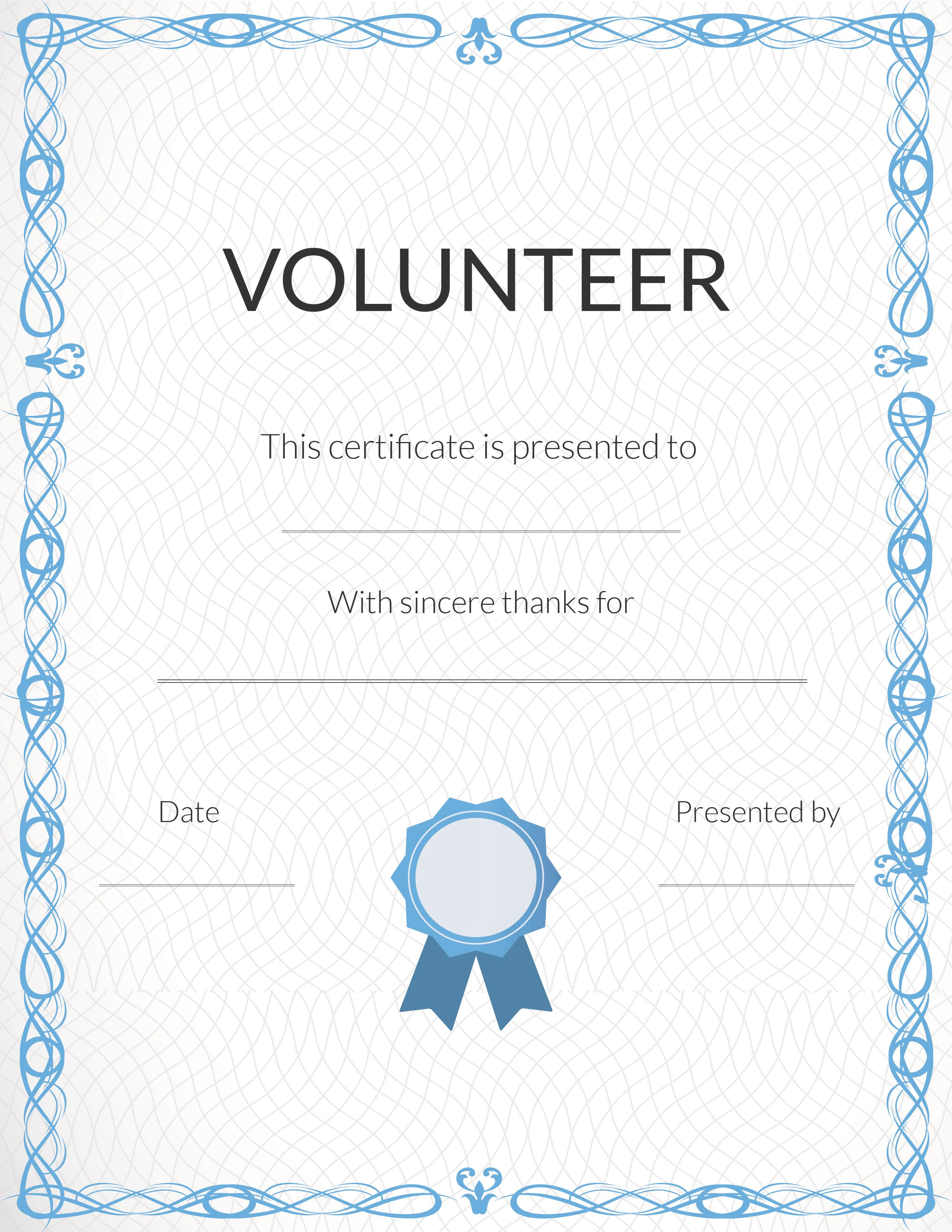 Volunteers Certificate Templates - FREE DOWNLOAD With Volunteer Certificate Templates
