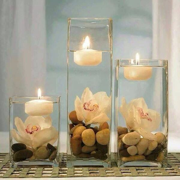 Candles for center piece
