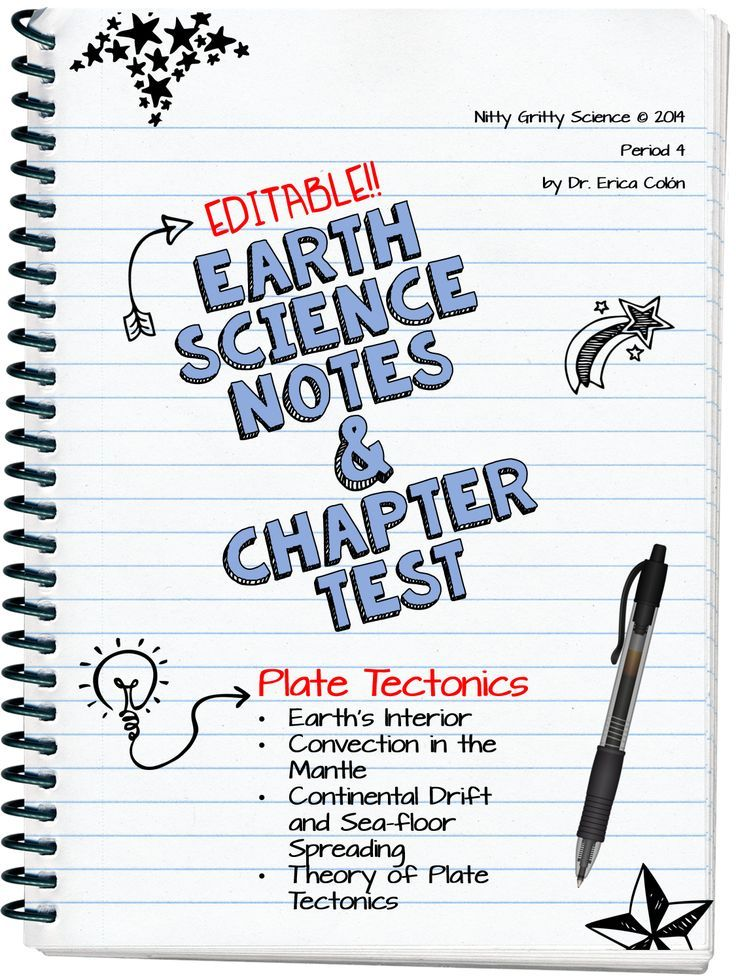 Plate Tectonics: Earth Science Notes, PowerPoint & Chapter Test ...