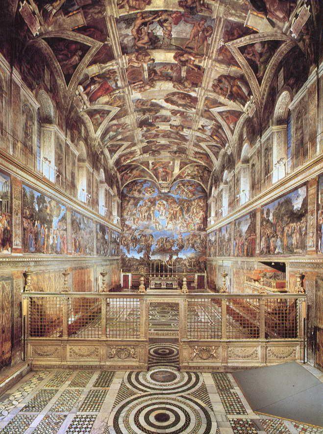 Chapelle sixtine rome - Plafond chapelle sixtine michel ange ...