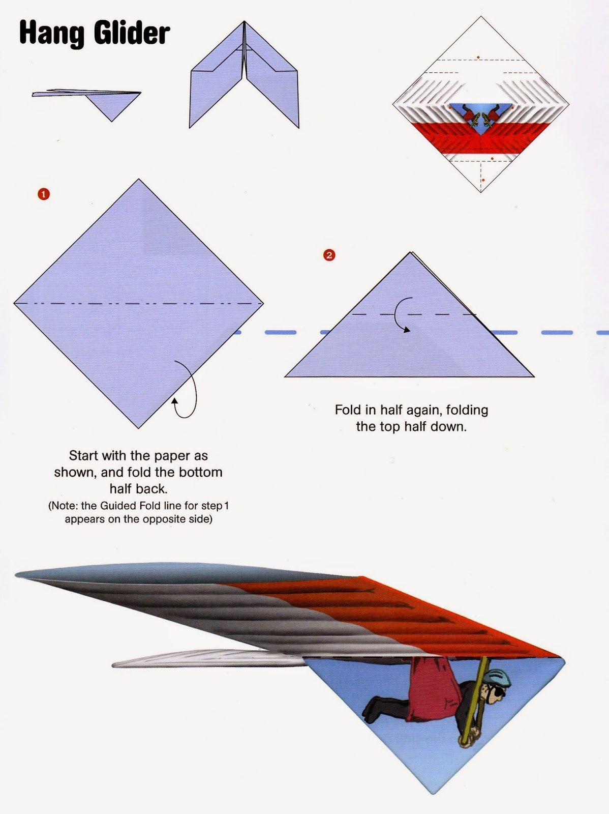 Craftside: How to Fold a Hang Glider Paper Airplane from the