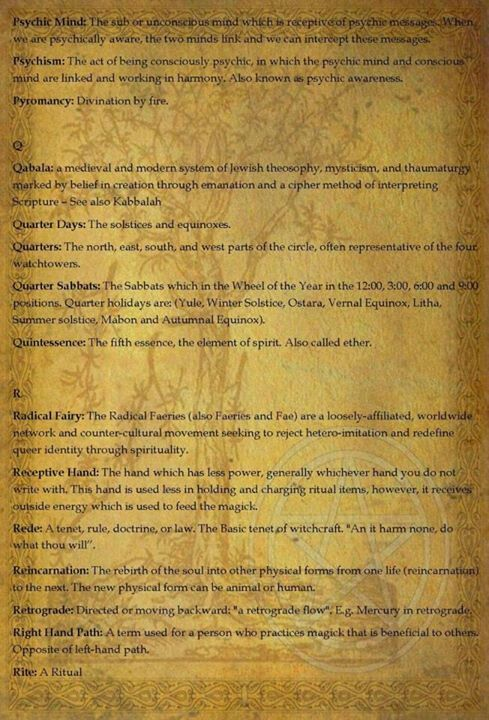 Wiccan dictionary   Witchy   Wiccan books, Wiccan witch, Wiccan spells