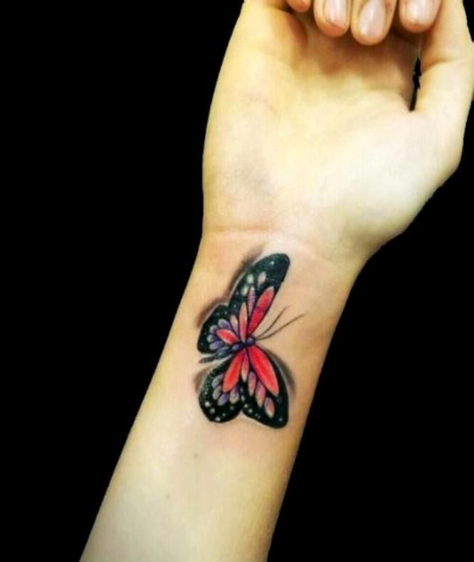 16 Awesome Looking Wrist Tattoos For Girls: Butterfly Tattoo 2013 On Wrist