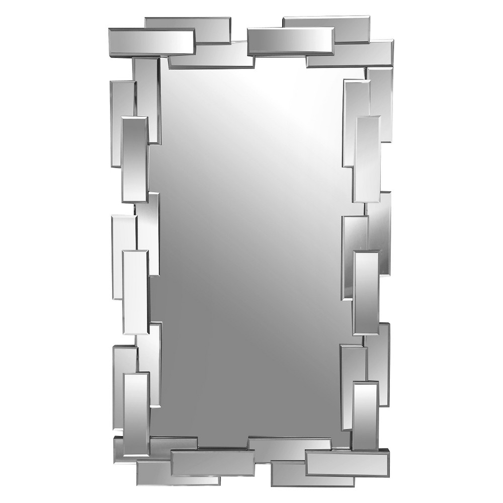 Wall Mirrors Target abbyson living freya rectangle wall mirror - silver | silver