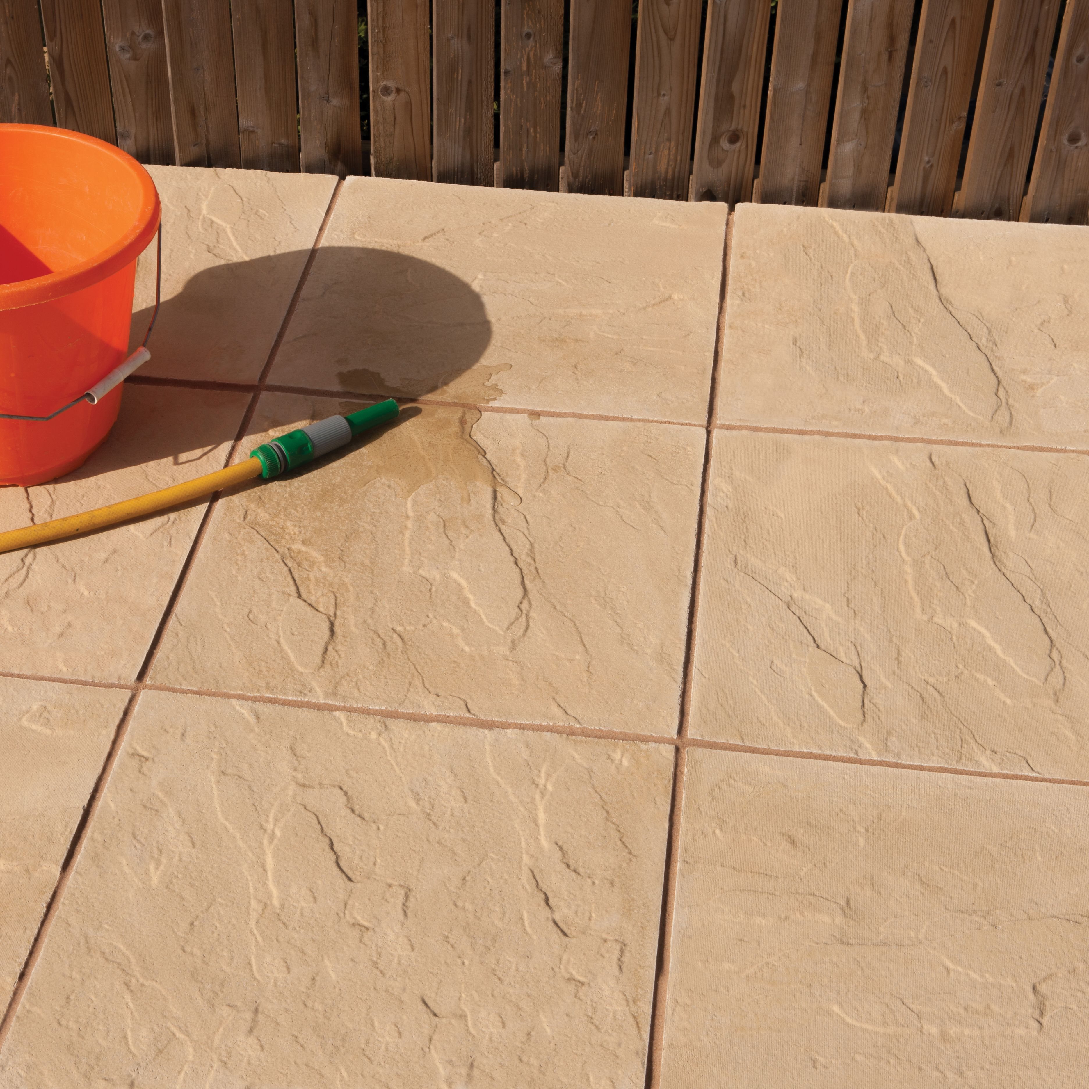 Buff Peak Riven Paving Slab Pack Of M²   Bu0026Q For All Your Home And Garden  Supplies And Advice On All The Latest DIY Trends