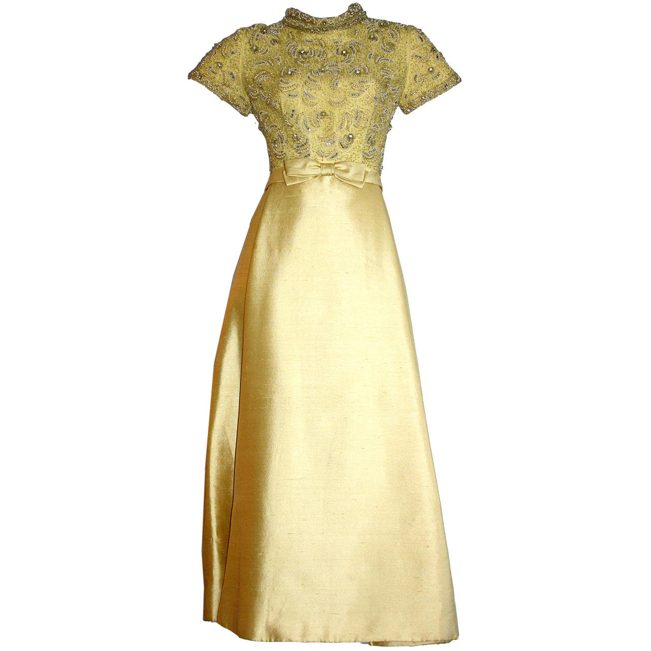 Gorgeous Vintage 1960s Wolfman S Of Houston Heavily Beaded Yellow Silk Bell Gown Vintage Dresses 1960s Evening Dresses Vintage Vintage Evening Gowns [ 1280 x 1280 Pixel ]