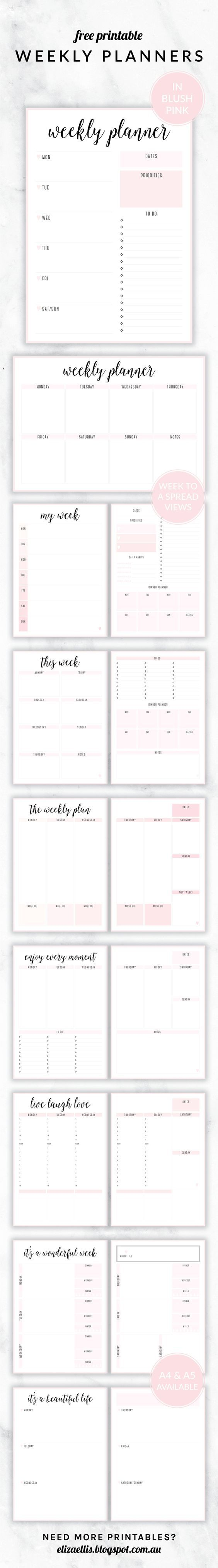 FREE PRINTABLE IRMA WEEKLY PLANNERS | Organizing solutions, Weekly ...