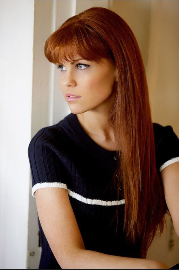 Long Straight Red Hair With Bangs Straight Red Hair Red Hair With Bangs Hair