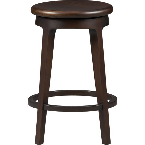 """Crate and Barrel - Nora 24"""" Counter Stool.  17.25""""W x 17.25""""D x 24""""H.  $199.00 retail."""