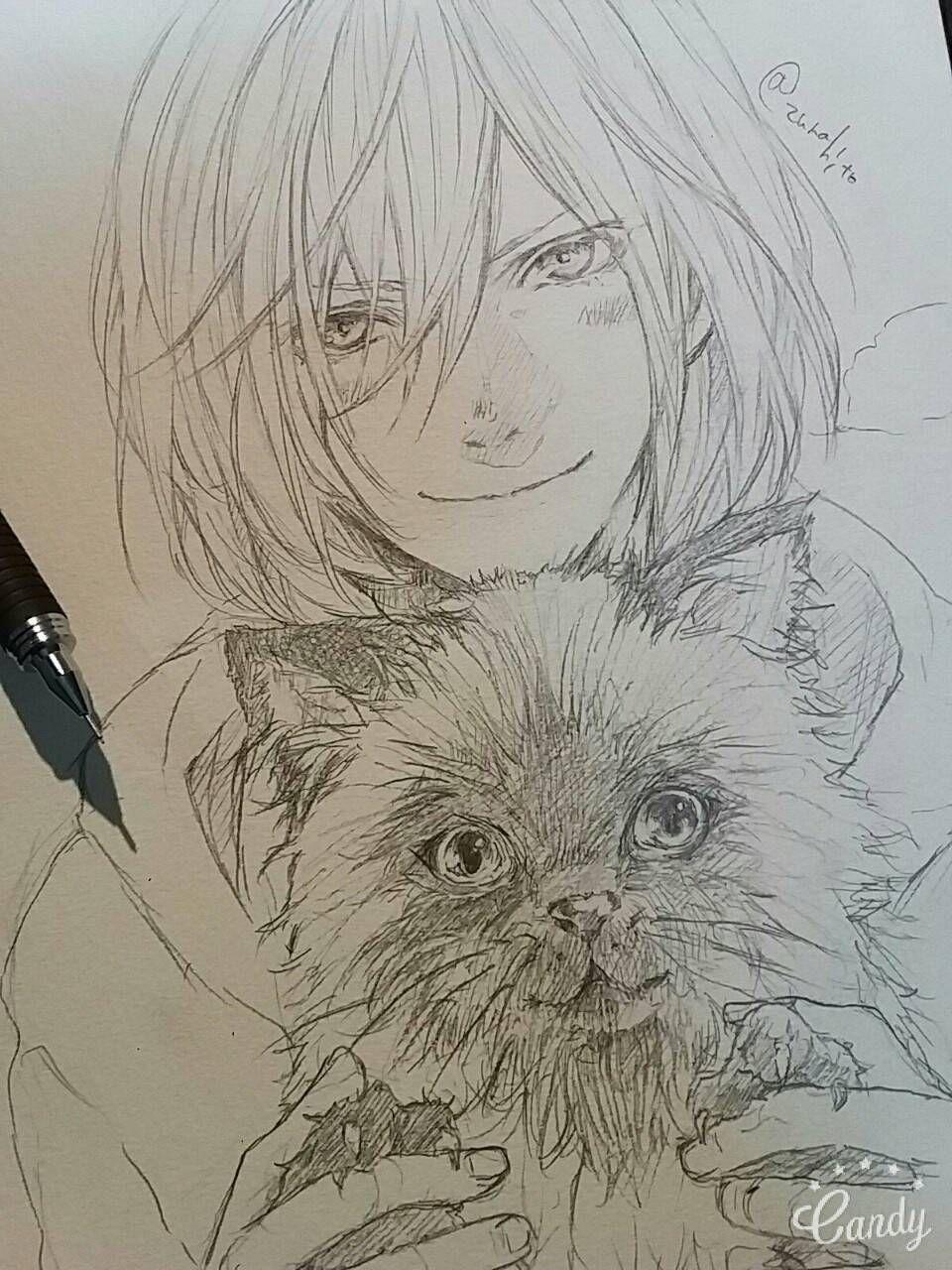 Idea by Dianna Z on Handdraw Line Draft Anime sketch