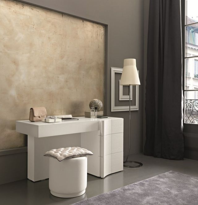 Schminktisch ideen designs schlafzimmer  schminktisch ideen weiss modernes schlafzimmer aufklappbarer spiegel ...