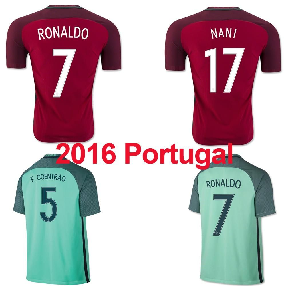 half off 53063 cb7e4 2016 Portugal National Team Soccer Jerseys 2016 European Cup ...