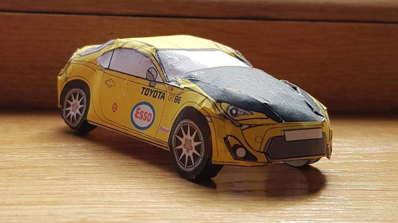 Toyota 86 Paper Models Are Here To Eat Up Some Time Toyota 86 Toyota Paper Model Car