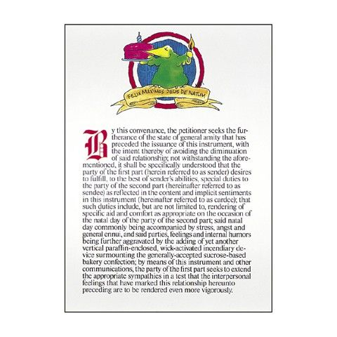 Legalese birthday card The Art of Paralegaling – Lawyer Birthday Card