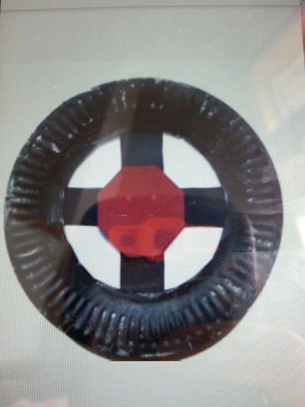 Paperplate steering wheel