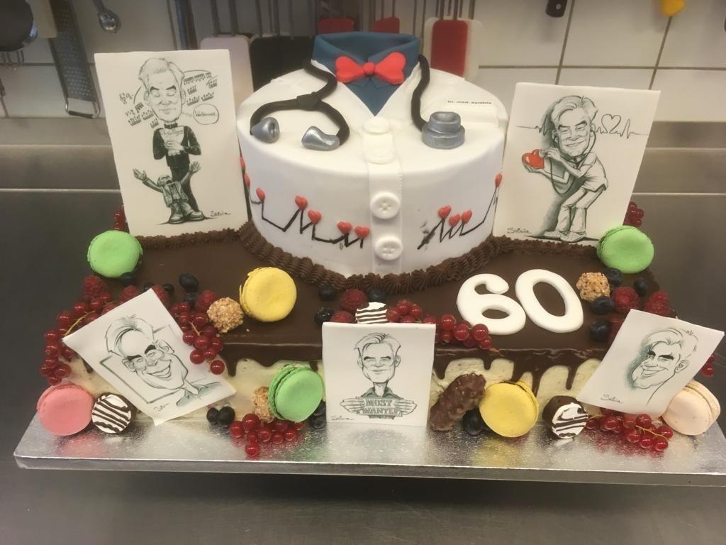 Eine Torte Zum 60 Geburtstag Kuchen Arzttorte