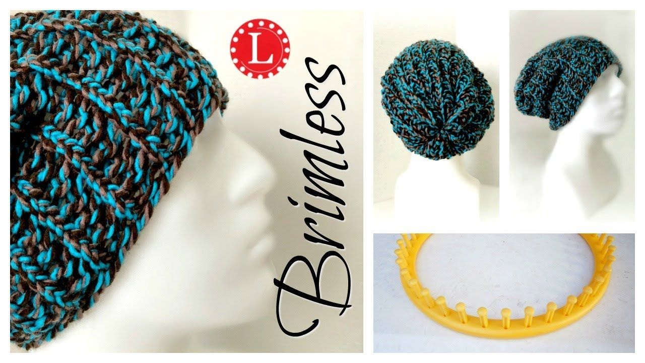 Loom Knitting Hat For Beginners Brimless Slouchy On Any Round
