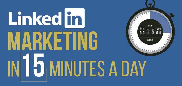 Linkedin Marketing In 15 Minutes A Day Checklist Social Media Today Linkedin Marketing Blog Social Media Digital Marketing Trends