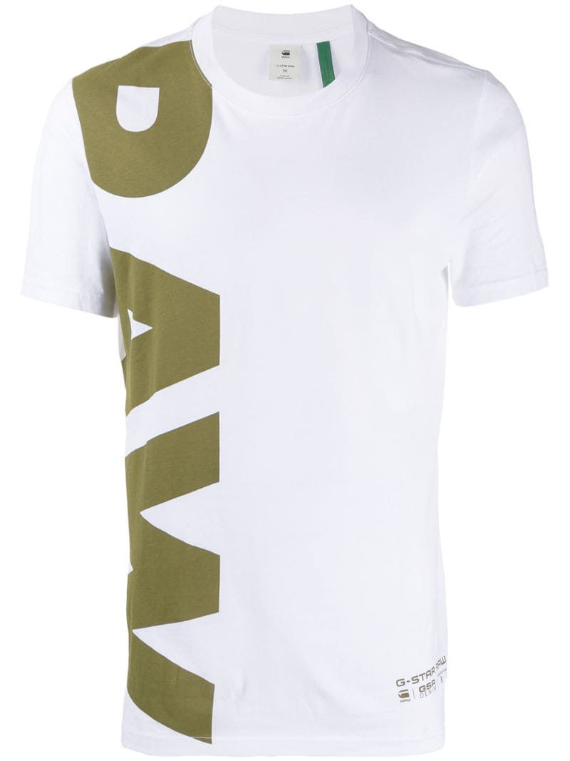 G Star Raw Research Logo Print Crew Neck T shirt   Research