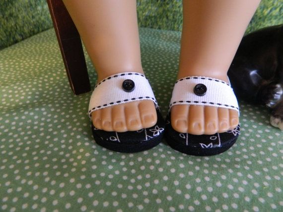 American Girl doll shoes 18 inch doll sandals doll by SewCuteJune