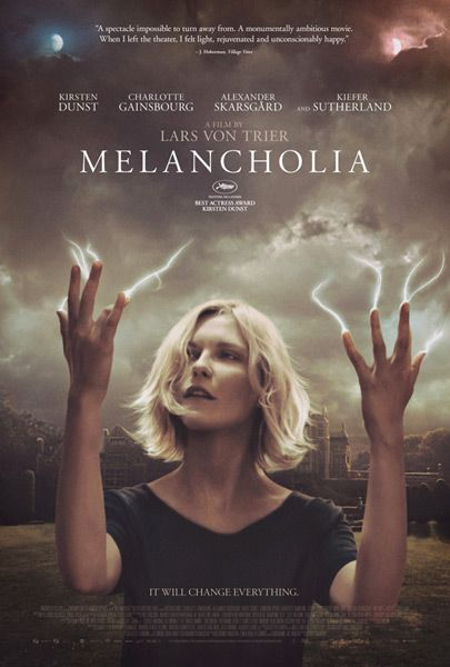 The award-winning Melancholia, starring Kirsten Dunst, Charlotte Gainsbourg, Alexander Skarsgard and Kiefer Sutherland!