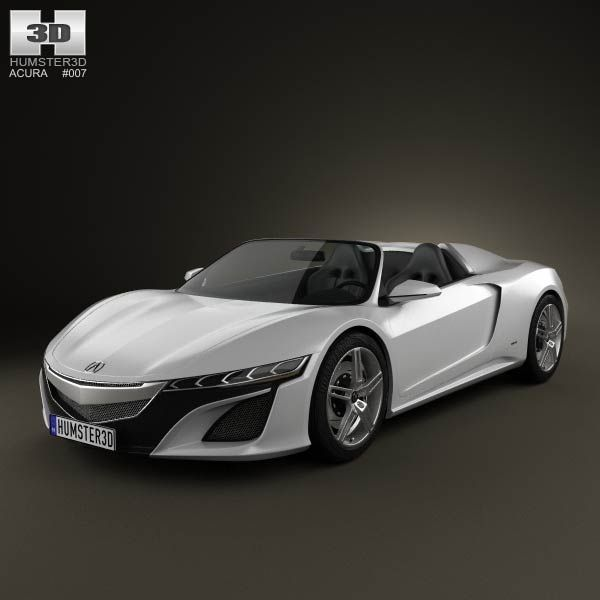 Acura NSX Convertible 2012 3d Model From Humster3d.com. Price: $75 Idea