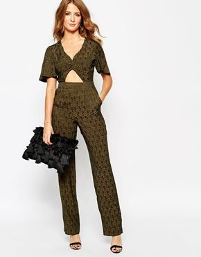 Millie Mackintosh Flared Jumpsuit with Cut Out Detail