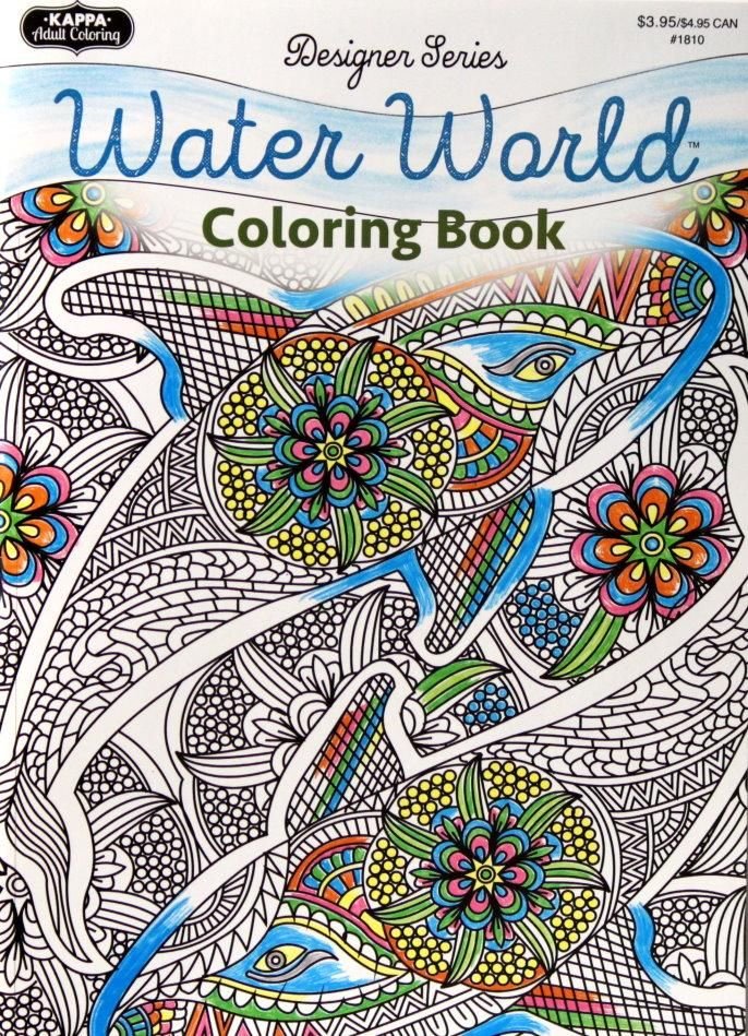 Kappa Books Publishers Designer Series Water World Adult Coloring ...