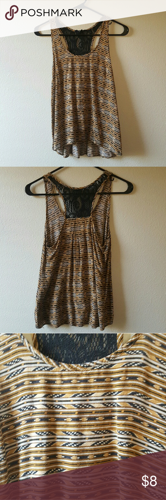 Tribal printed top. In good worn condition. Forever 21 Tops