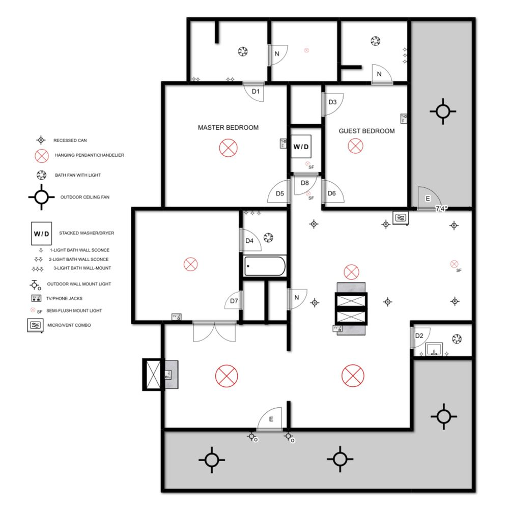 Electrical House Plan Design Wiring Plans By Diagram For Bedroom Myrtle Elizabeth Burns