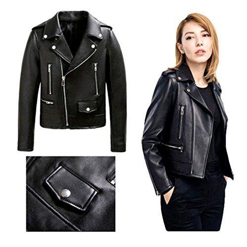 Veste cuir bikers femme