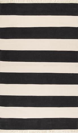 Rugs Usa Black Beachward Awning Striped Flatweave Tassel Rug