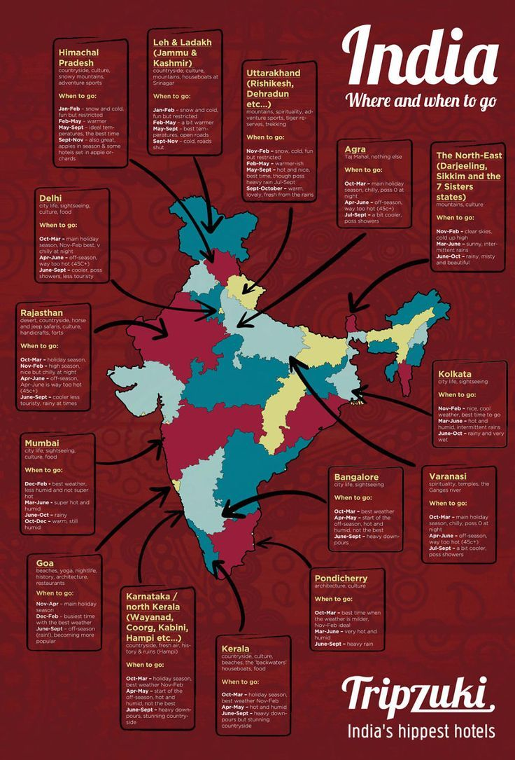 Brilliant Infographic On Travelling In India India