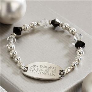 Medical Alert Bracelet Personalized Gifts For Her Lillian Vernon Medical Alert Jewelry Medic Alert Bracelets Personalized Gifts For Her