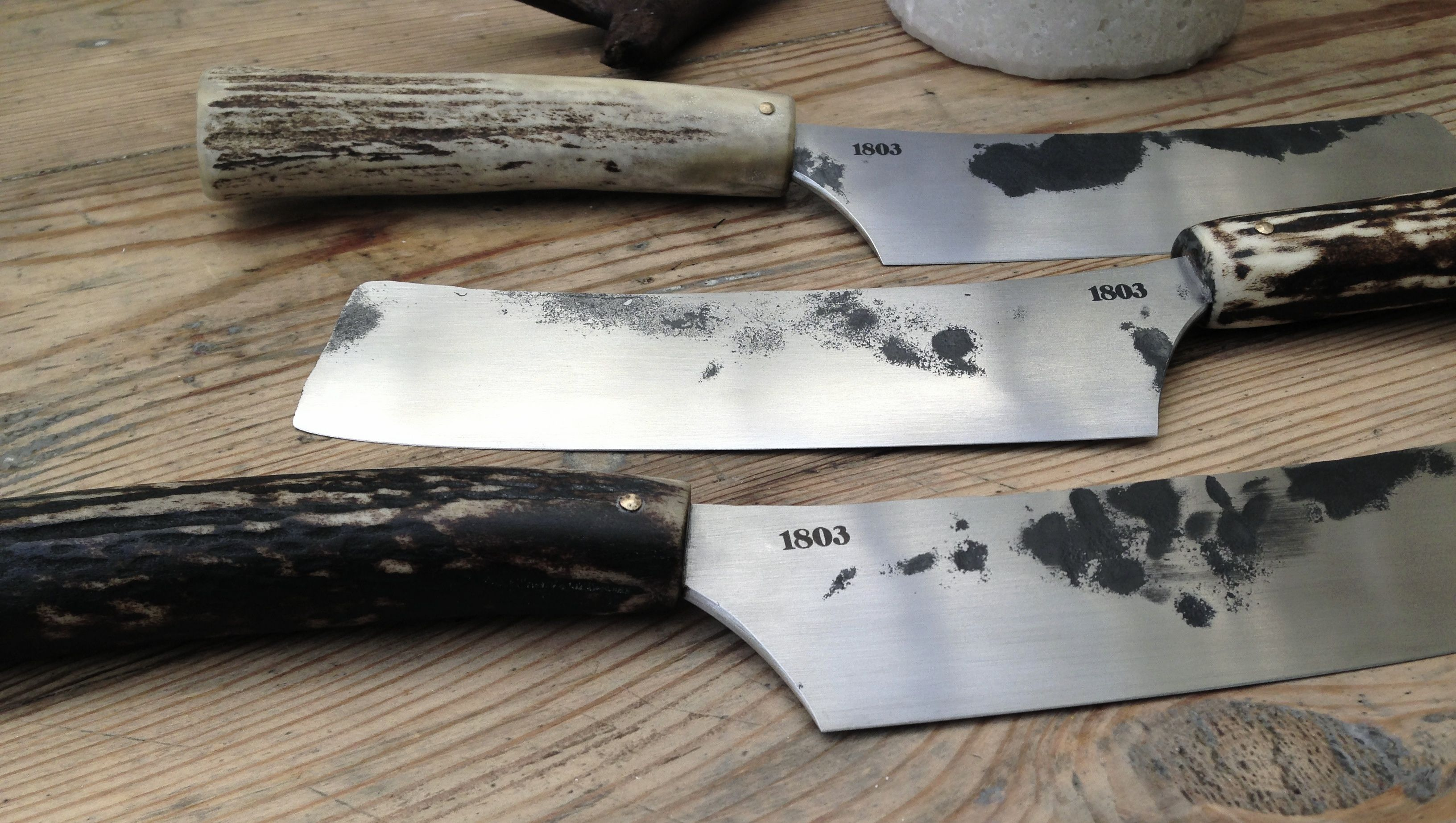 Hand Forged Stainless Steel Blade With Red Deer Antler Handle Designed And Made In Australia Antler Deer Knives Antler Knife Knife Forged Stainless Steel
