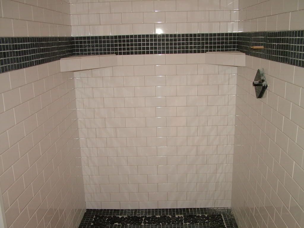 Biscuit Subway Wall Tile White Subway Tile Bathroom Pebble Tile