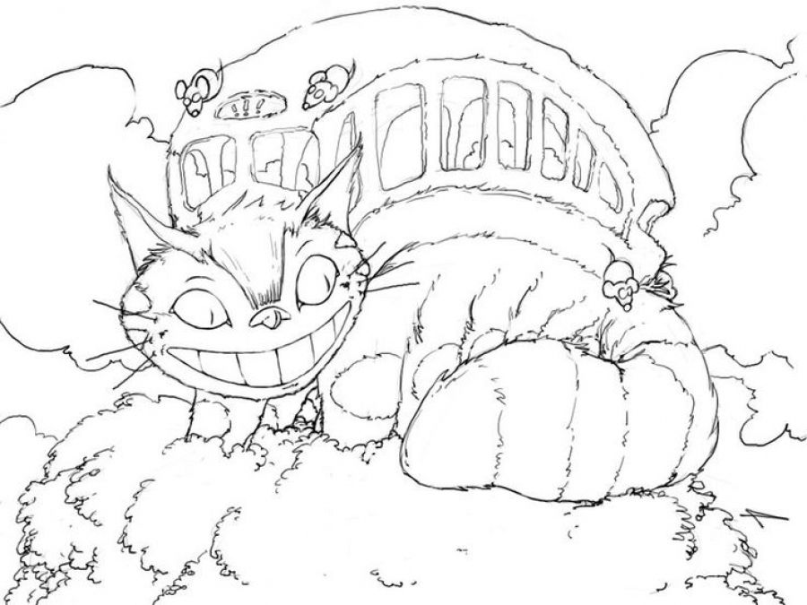 Catbus From Totoro Coloring Pages Letscolorit Com Cool Coloring Pages Coloring Books Coloring Pages