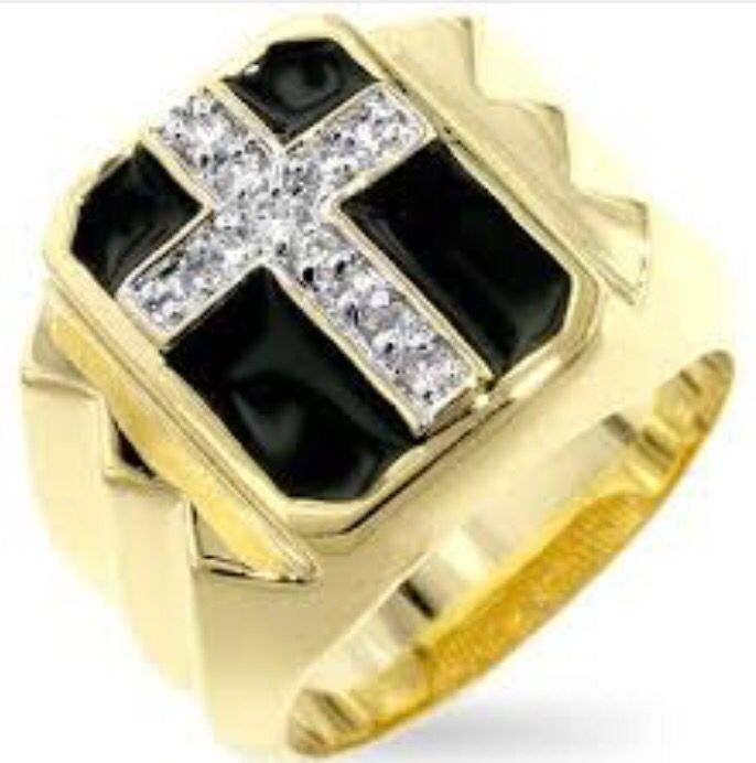 Gold cross diamonds