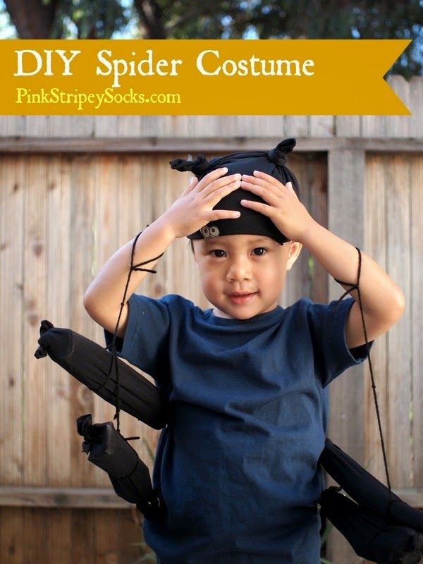 Easy DIY Kids Spider Costume Spider costume, Spider and Costumes - super easy halloween costume ideas