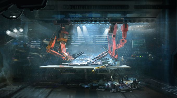 science fiction hospital room - Google Search