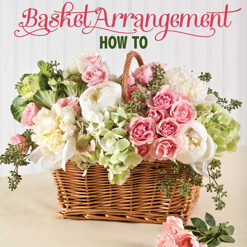 How To Draw A Beautiful Flower Basket : Basket flower arrangement step by