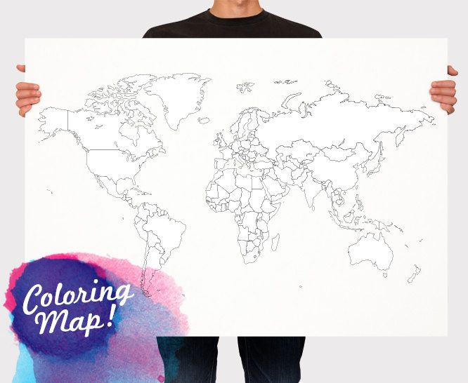 World map for coloring blank world map countries world map for blank world map countries world map for kids travel map wall hanging large medium size usd by macanaz gumiabroncs Images
