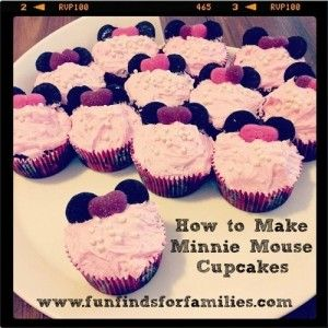 How to Make Minnie Mouse Cupcakes Cute Idea for DIY Birthday Party