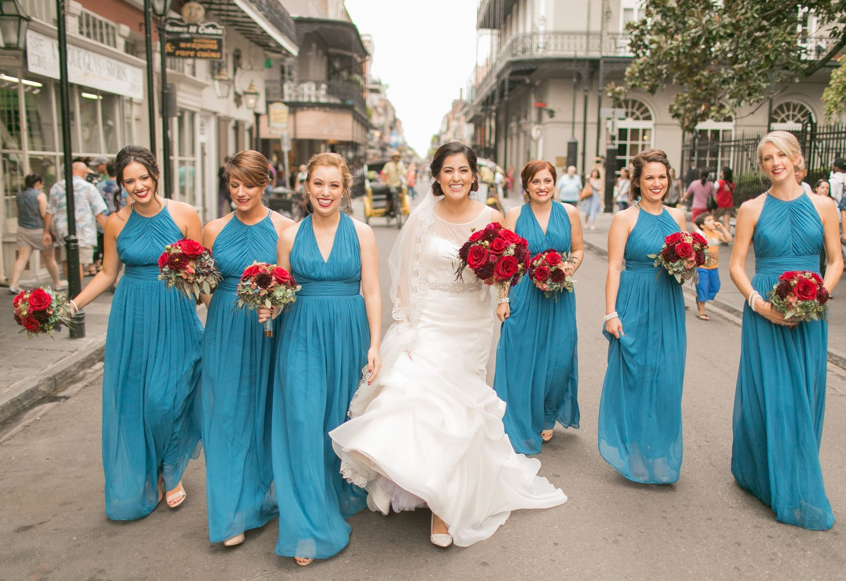 Bridesmaids with turquoise dresses must see wedding southern bridesmaids with turquoise dresses must see wedding southern fall new orleans wedding rosys ombrellifo Images