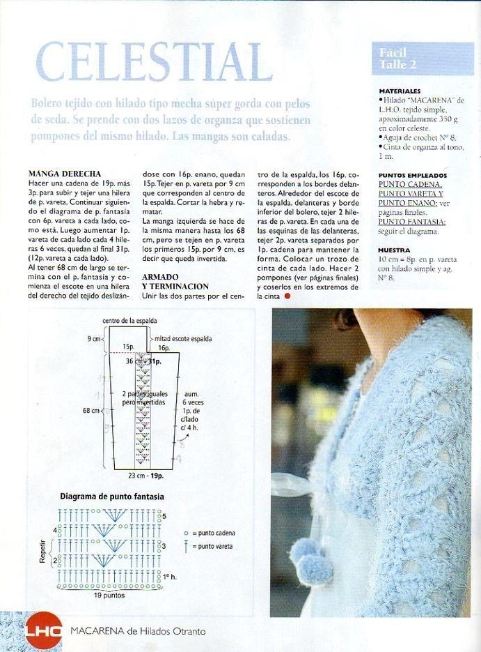 Pin de Janeta en crochet, patrones gratis | Ganchillo, Croché y Boleros