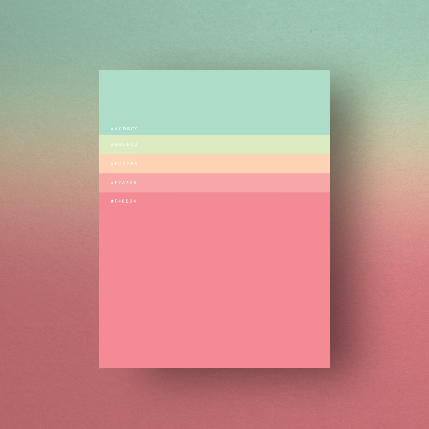 Minimalist Color palette posters collection When you think of ...