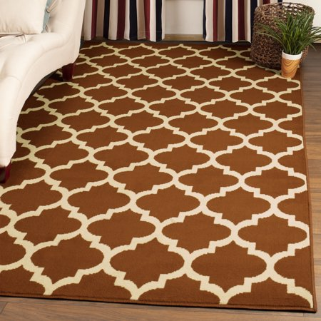 New Modern Rug Shabby Rugs Checked Rugs Low Pile Carpet Brown Teal Rustic Mats