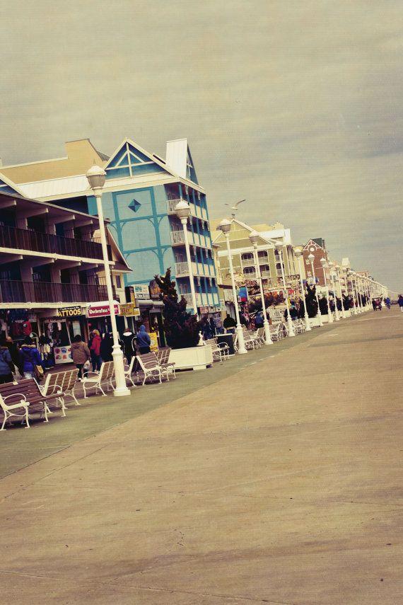 8x10 portrait of ocean city md boardwalk vintage by blissimages rh ar pinterest com