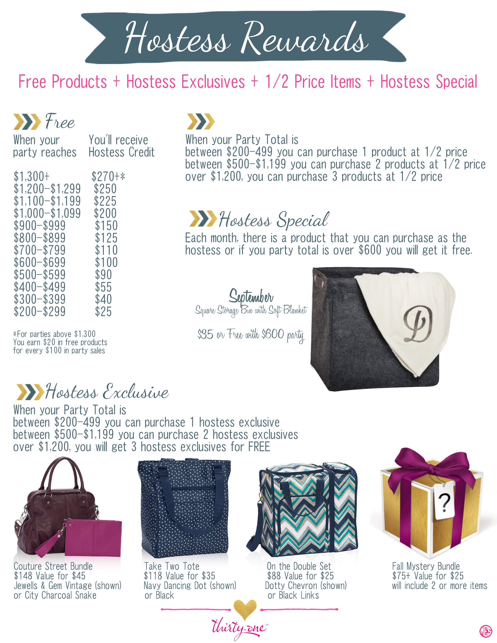 Thirty One Hostess Rewards - Year of Clean Water